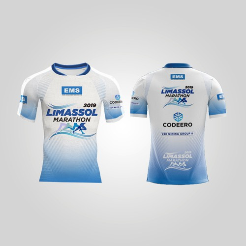 Running t-shirt with the title 'Limassol Marathon 2019'