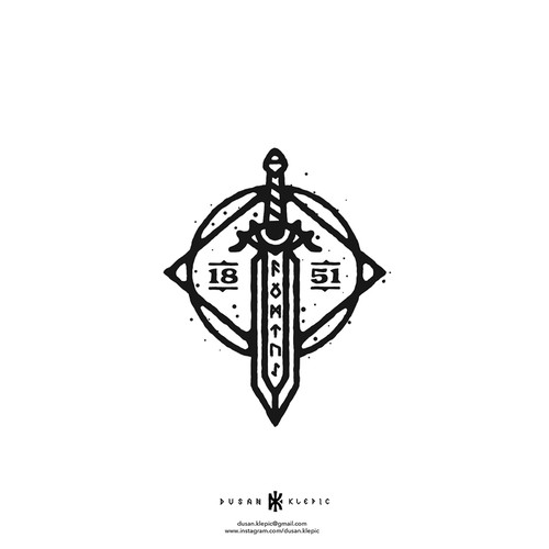 Craft logo with the title 'The Blacksmith'