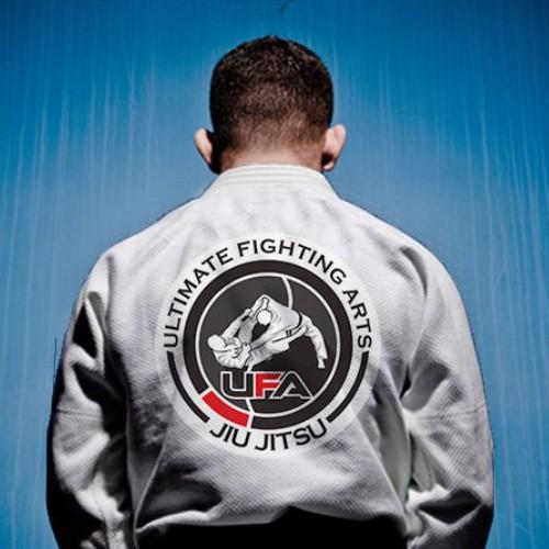 Jiu-jitsu design with the title 'UFA - Ultimate Fighting Arts'