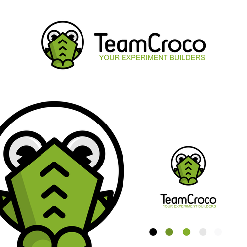Crocodile design with the title 'logo and character'