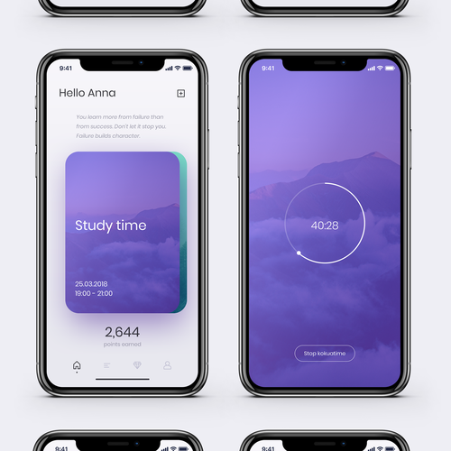 Young design with the title 'kokuatime App'