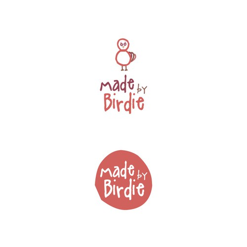 Indie logo with the title 'Design a logo for a fun and colourful handmade product brand called Made By Birdie'