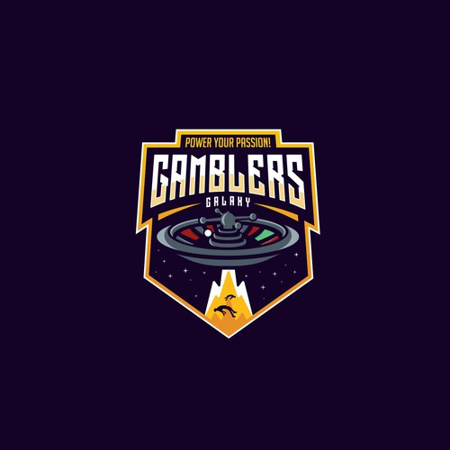 Casino logo with the title 'Gamblers Galaxy'