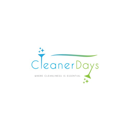 Cleaning brand with the title 'Logo For Cleaning Company'