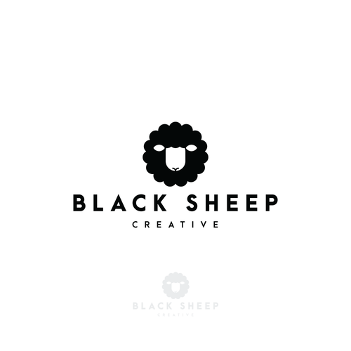 Golden ratio design with the title 'Black Sheep Creative'