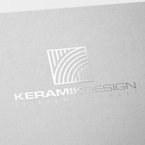Glass design with the title 'Wiener Fliesenlegerbetrieb sucht trendige Corporate Identity'