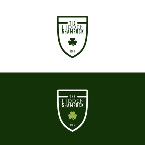 Lucky design with the title 'Hidden Shamrock Shield Concept'