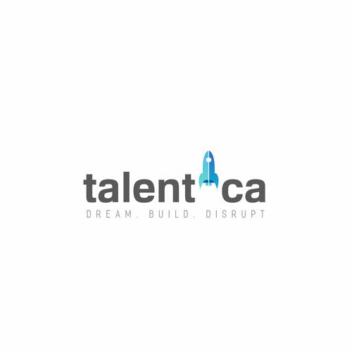 Bright idea logo with the title 'Logo concept for Talentica'