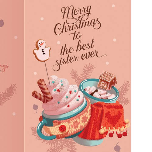 Cozy design with the title 'Christmas Card Design'