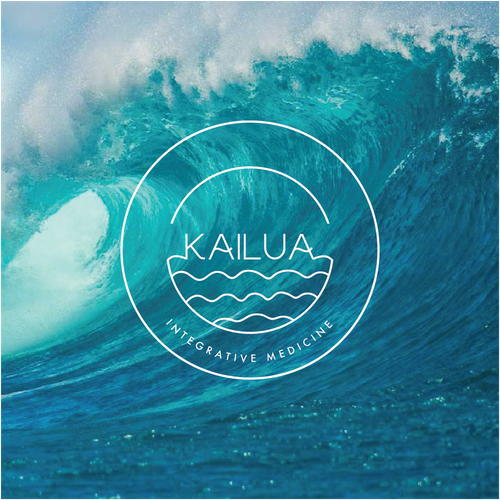 Ocean wave design with the title 'Kailua'