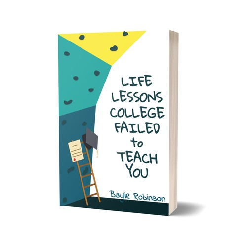 College book cover with the title 'Book cover for Life lessons college failed to teach you'