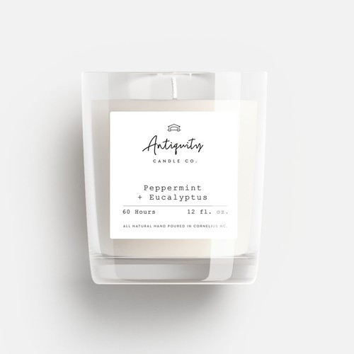 Simplified design with the title 'Luxury and sophisticated Soy Candle'