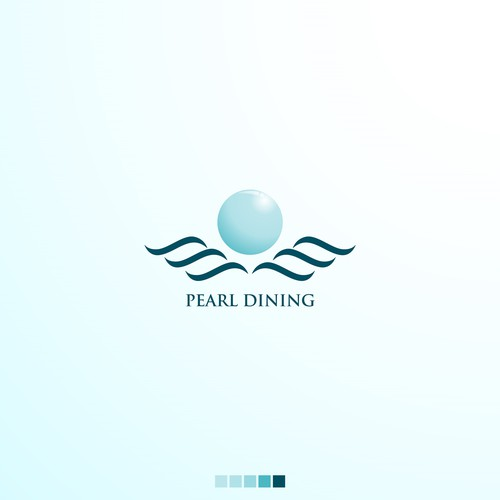 Pearl logo with the title 'luxurious and clean logo concept '