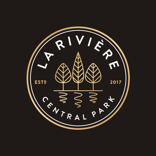 Vineyard design with the title 'La Riviere'