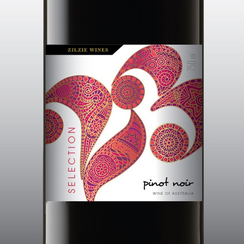 Liquor label with the title 'Modern wine label colection'