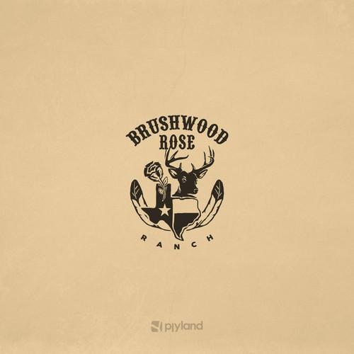 Heritage logo with the title 'BRUSHWOOD ROSE'