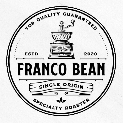 Bean design with the title 'franco bean'