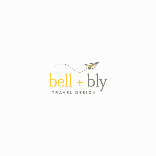 Travel brand with the title 'bell + bly Logo Design'