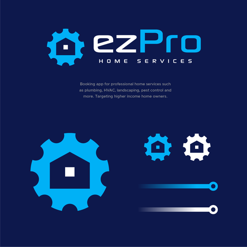 Machinery logo with the title 'ezpro'