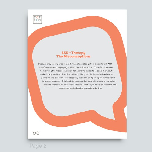 Orange and green design with the title 'eBook design'