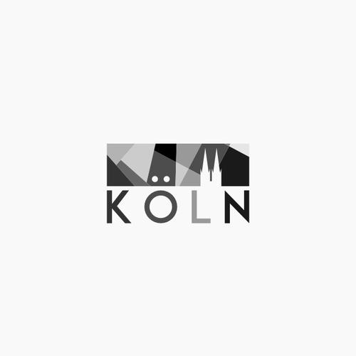 German logo with the title 'Community Wettbewerb: Gestaltet ein neues Logo für die Stadt Köln'