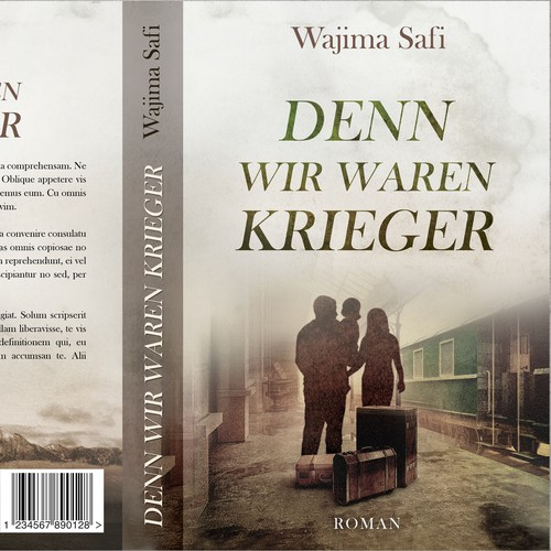 German design with the title 'Denn Wir Waren Krieger - Fiction'