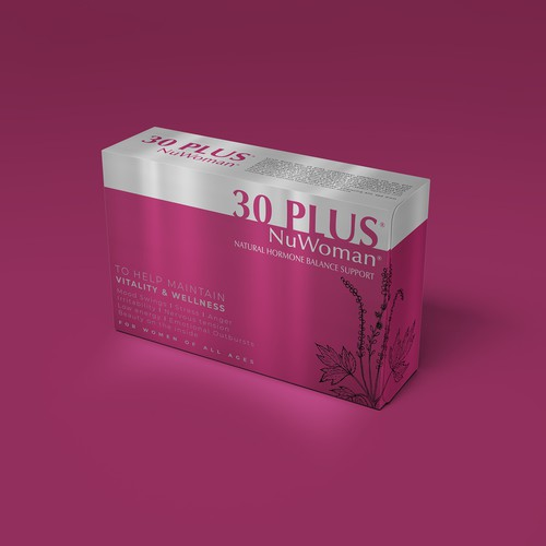Pills packaging with the title '30Plus NuWoman'