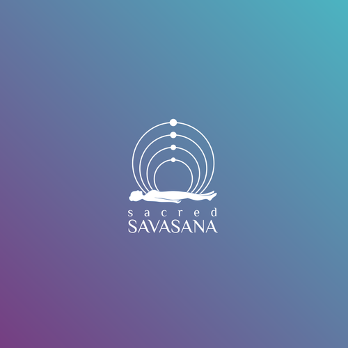 Spirit design with the title 'Logo for Sacred Savasana'