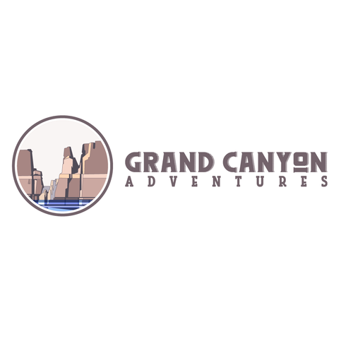 Tourism logo with the title 'Grand Canyon Guide Logo'