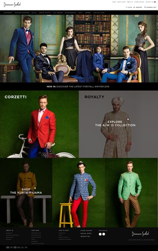 Male design with the title 'Divan Fashion website design '