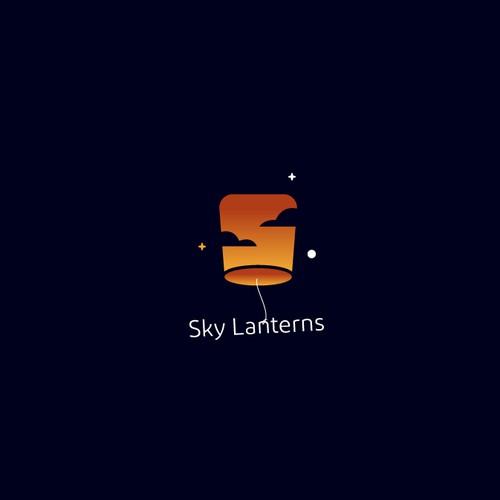 Lantern logo with the title 'Sky Lanterns Logo'