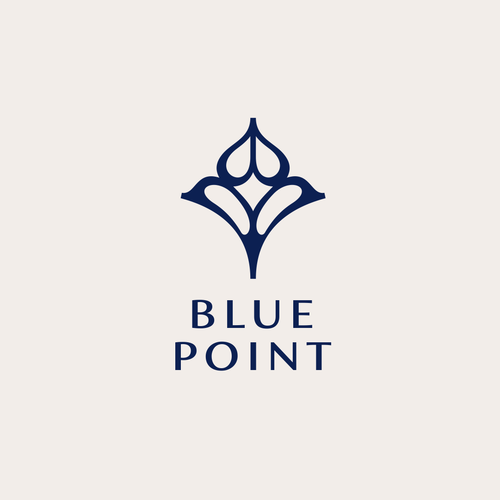 Bag logo with the title 'BLUE POINT'