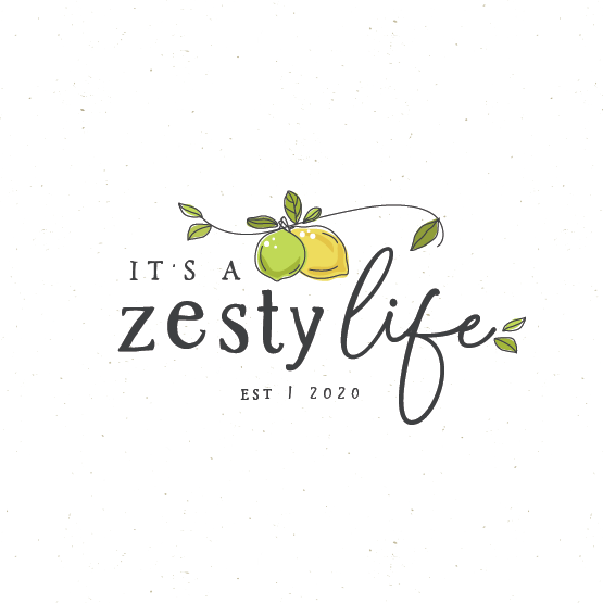 Lime design with the title 'It's a zesty life '