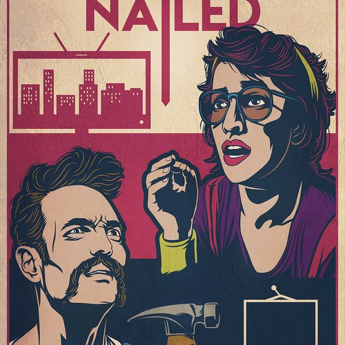 Vector design with the title 'Nailed Film Poster'