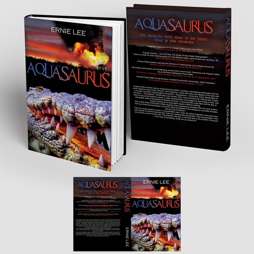 "Novel design with the title 'Book Cover design - action/thriller ""Aquasaurus""'"