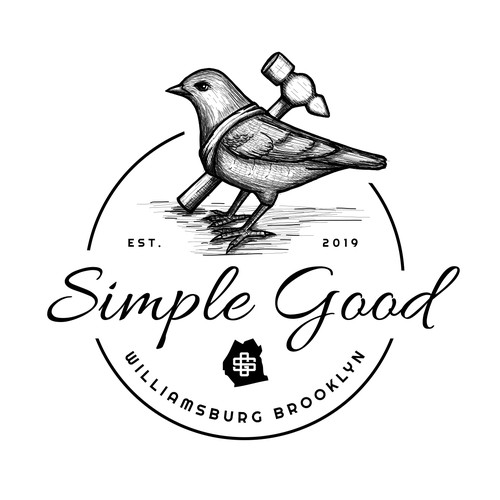 Antique logo with the title 'Simple Good'
