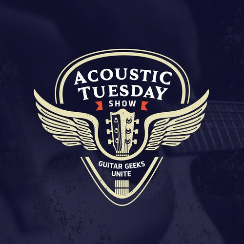 Acoustic design with the title 'Guitar show logo'