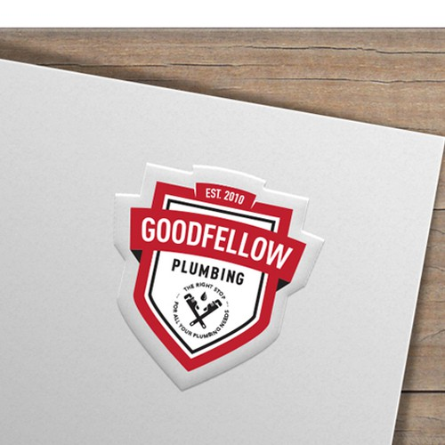 Pipeline logo with the title 'GOODFELLOW PLUMBING SERVICE'
