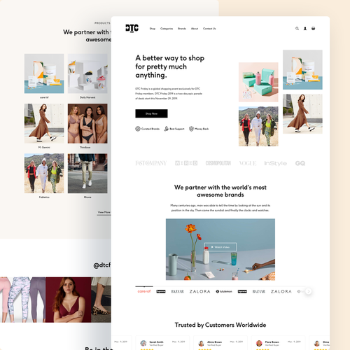 Online store website with the title 'Ecommerce website selling multiple brands'