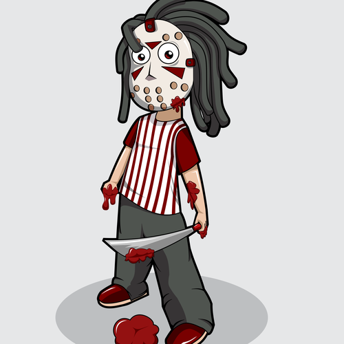 Cartoon t-shirt with the title 'Jason dreads'