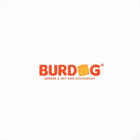 Hot dog logo with the title 'Design for BurDog'