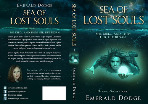 Paranormal design with the title 'Cover for a nautical fantasy novel'