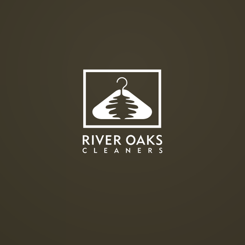 Oak leaf design with the title 'New logo wanted for River Oaks Cleaners'