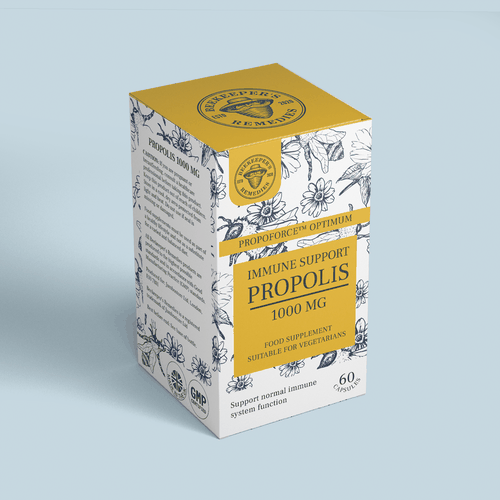 Honey packaging with the title 'Propolis'