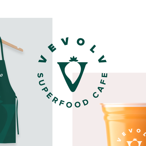 Healthy lifestyle logo with the title 'Superfood Cafe Logo'