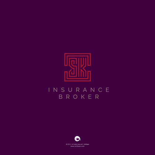 Insurance logo with the title 'Unused insurance logo for sale'