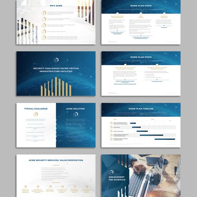 PowerPoint presentation for a security company