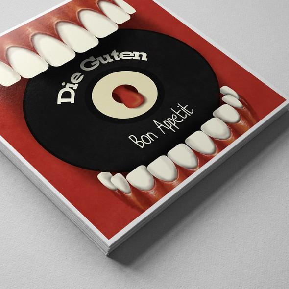 Vinyl record design with the title 'Vinyl cover design'