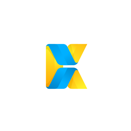 K logo with the title 'simple and modern letter K logo for KAMETA'