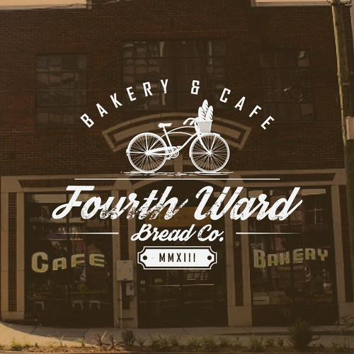 Cafe brand with the title 'bakery & cafe logo design'